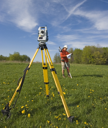 Analizing a map - spring land surveying.